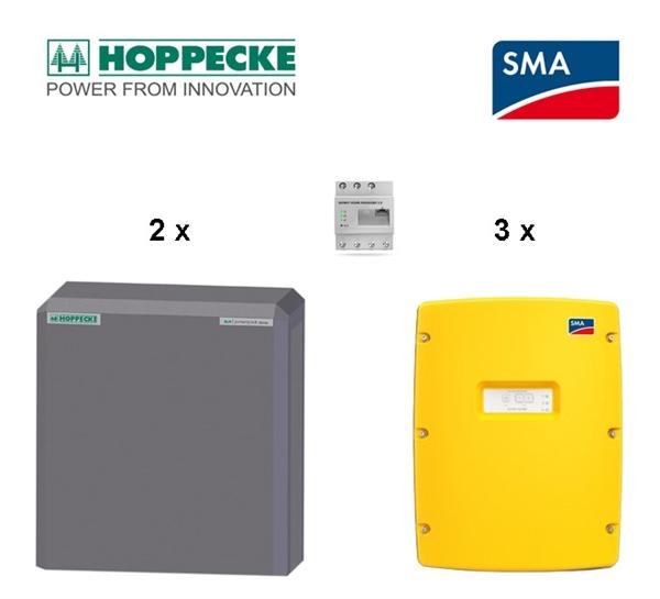 SMA SI 6.0 Hoppecke sun powerpack classic 22 kWh Batteriespeicherset, 3phasig
