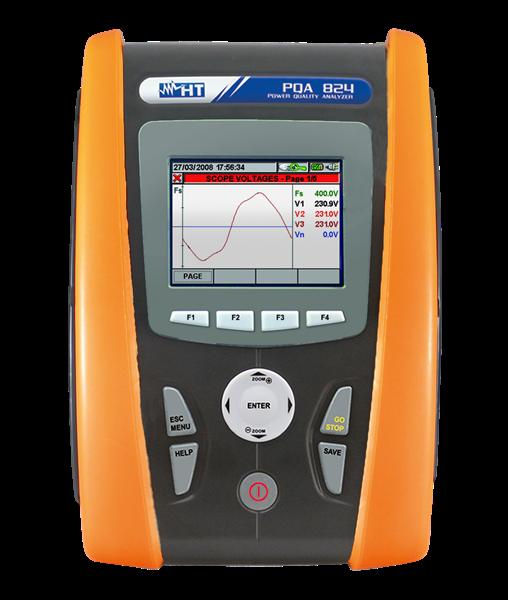 HT Instruments PQA 824 Netzanalysator CAT IV, inkl. Flickeranalyse