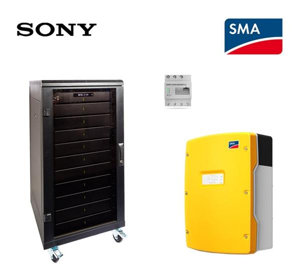 SMA Sony fORTELION Stromspeicher Set 4.8 kWh mit SMA SI 6.0